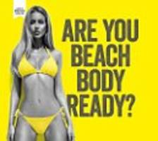 More than 43,000 sign petition calling for removal of 'body-shaming' protein advert on London Underground - and Katie Hopkins now wades in attacking 'chubsters' who are complaining about bikini-clad model